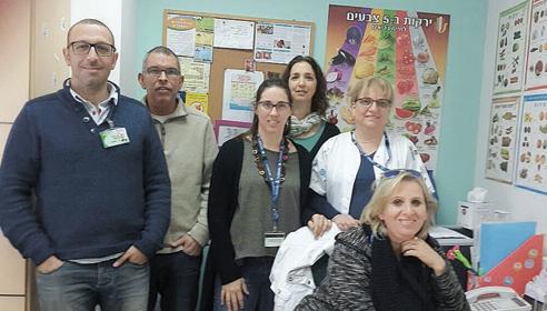 צוות המרפאה להפרעות אכילה בקרב תינוקות (צילום: דוברות שירותי בריאות כללית)