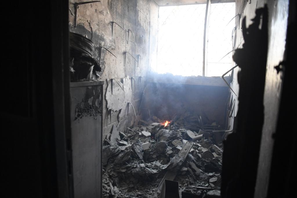 נזקי השריפה בחיפה (צילום: ראובן כהן, דוברות עיריית חיפה)