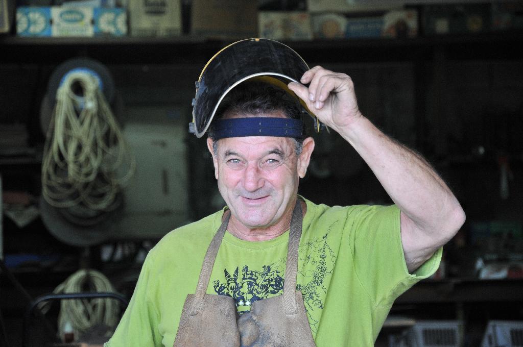 """האמן ראובן גפני (צילום: יח""""צ)"""