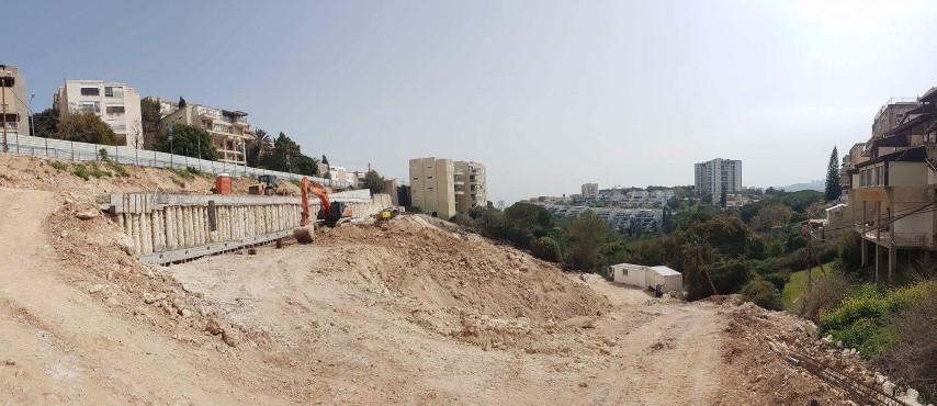 """המגרש שבו נבנה פרויקט """"הכרמל הירוק"""""""