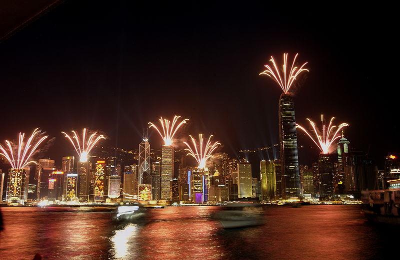 מופע האורות בהונג קונג (צילום: Kroot)