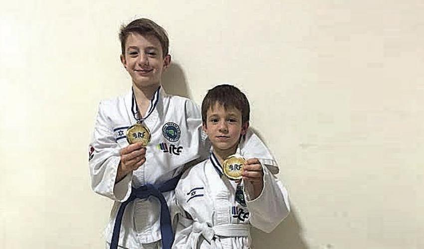 האחים אלכס וטימופיי מרקולוב. ספורטאי העתיד של נבחרת ישראל (צילום: ארטיום חרצ'נקו)
