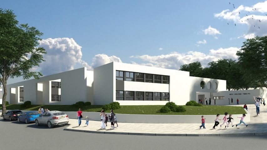 בית הספר בשכונת נאות פרס בחיפה (הדמיה: משרד האדריכלים מנספלד-קהת)