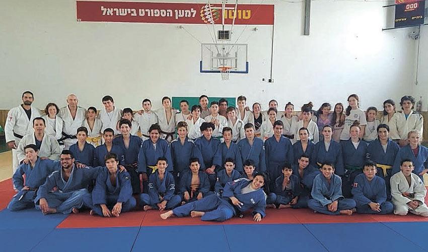 ג'ודאי מכבי חיפה ועמיתיהם ממינכן. מחנות אימון משותפים בעתיד(צילום גדי טיבין)