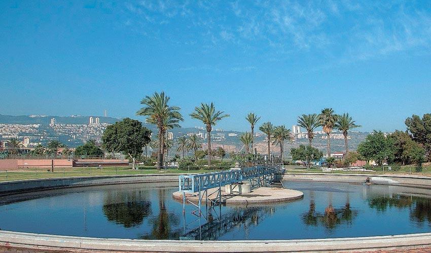 המכון לטיהור שפכים במפרץ חיפה (צילום: איגוד הערים האזורי לביוב)