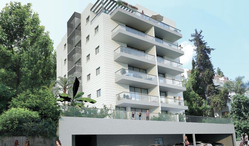 הפרויקט ברחוב כרמי 6 בחיפה (הדמיה: דורפברגר ייזום, ניהול והשקעות)