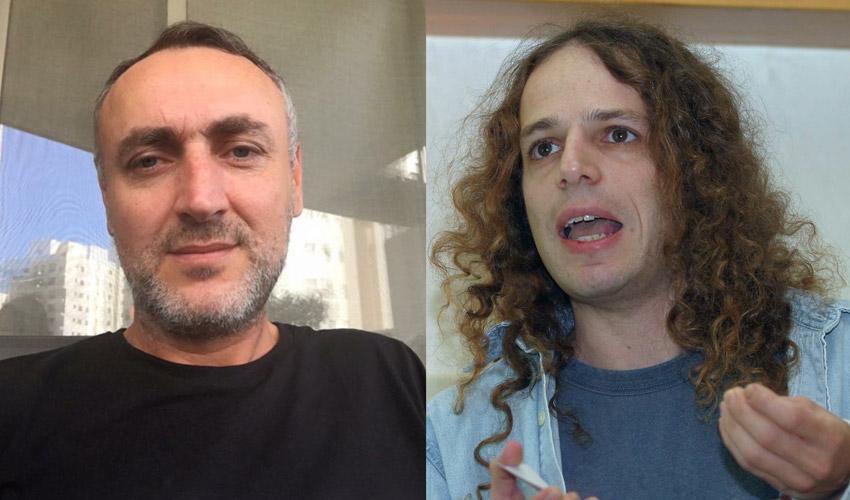 פרופ' אמיר חצרוני ומני אסייג. זה ייגמר בבכי? (צילום: ניר קידר)