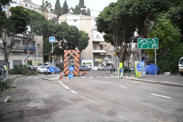 ריבוד רחוב גאולה (צילום: ראובן כהן)