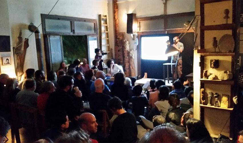 האירוע של שוברים שתיקה בסטודיו הנמלה בחיפה (צילום: שי אילן)