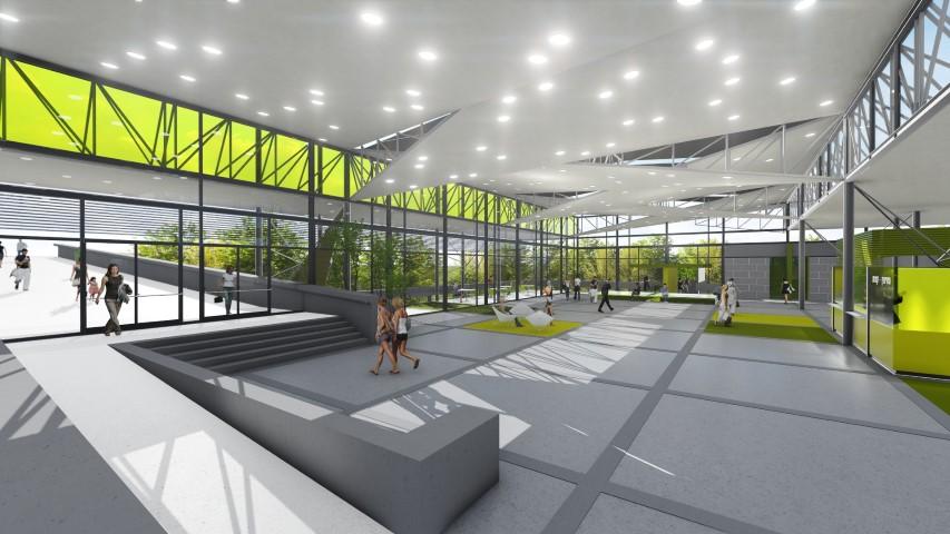 התוכנית לשדרוג בית אבא חושי (הדמיה: אמסטרדם בן נון משרד אדריכלים)