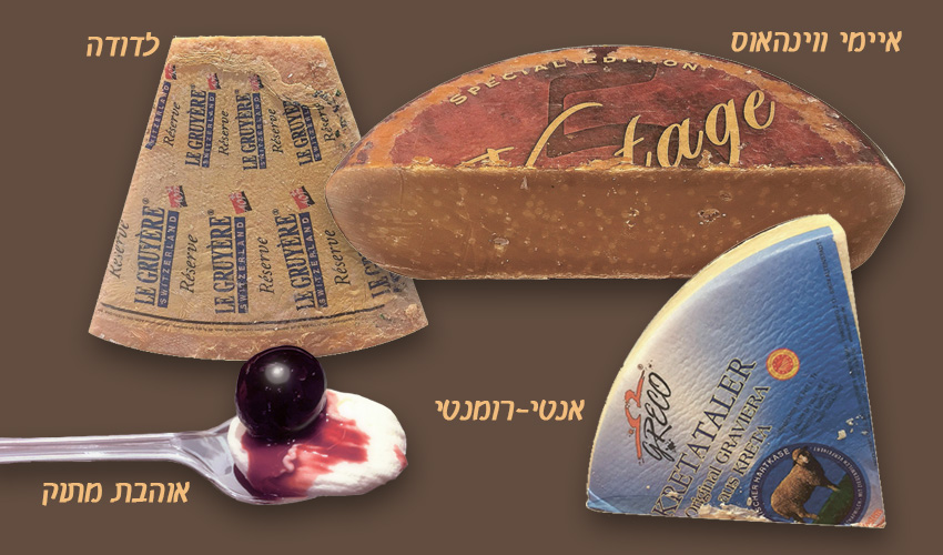 גבינות: גאודה ספיישל וינטג', גרוויירה, גרוייר רזרב, סליבקי.