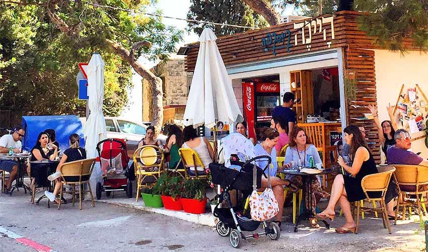 היינה קיוסקפה כרמל צרפתי. בית קפה ביום (צילום: ליאור רובינשטיין)