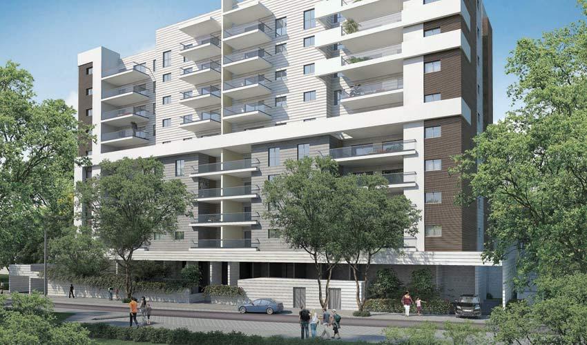 הפרויקט ברחוב חביבה רייך 66-62 (הדמיה חברת שתית)