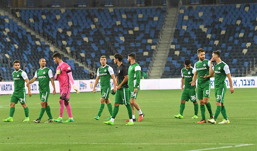 מכבי חיפה סיימה עוד עונה. אין קבוצה, אין קהל (צילום: צלמוס)