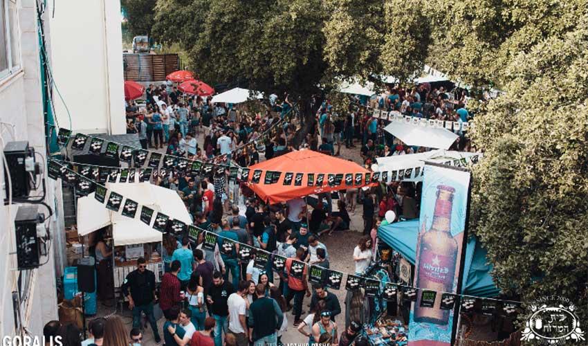 פסטיבל הבירה בבית המרזח בשנה שעברה. 1,600 מבקרים (צילום: ארתור ראש)