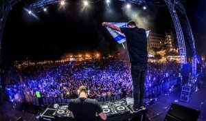 פסטיבל הסטודנט. פה לא התביישו בדגל ישראל (צילום: עמרי סילבר)