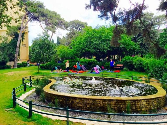 גן שמואל הכהן שבו יתקיים אירוע שבוע הספר החיפאי (צילום: ניר שובר)