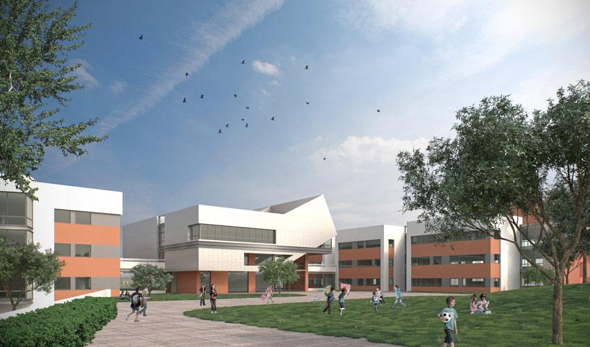 בית הספר חוגים החדש (הדמיה: עוזי גורדון אדריכלים ומתכנני ערים)