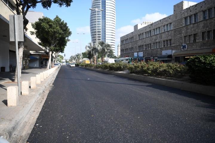 העבודות לריבוד רחוב העצמאות (צילום: ראובן כהן)