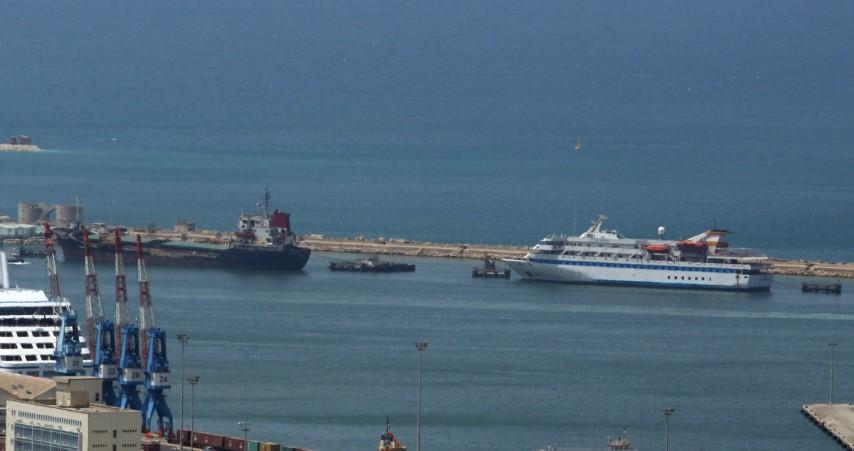 אוניות בנמל (צילום: קובי פאר)