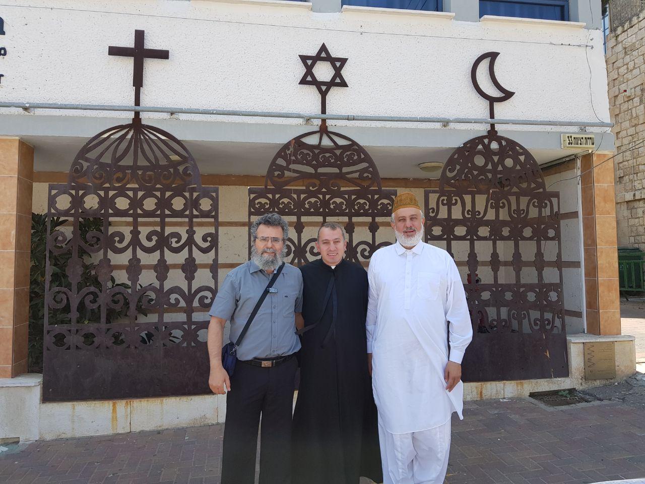 הרב דובי חיון, האמיר מוחמד שריף והכומר יוסף יעקב