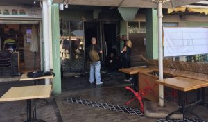 מסעדת באני'ס לאחר השריפה (צילום: שושן מנולה)