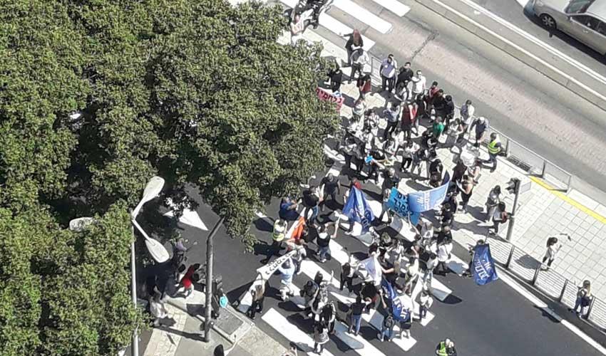 הפגנת הסטודנטים נגד סגירת מכללת כרמל