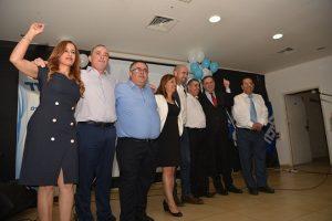 ירון מזוז עם בכירי הליכוד. 40 מנדטים בבחירות הבאות? (צילום: גרשון איתן וציון זאנה)