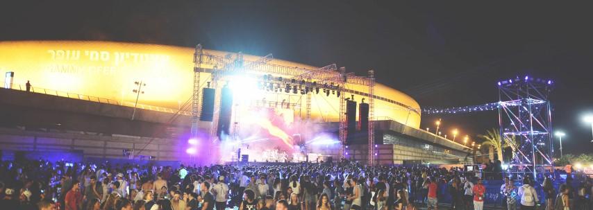 מסיבת הנוער ברחבת האיצטדיון העירוני (צילום: דוברות עיריית חיפה)