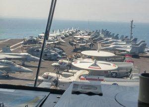 90 כלי טיס על הסיפון (צילום: דוברות נמל חיפה)