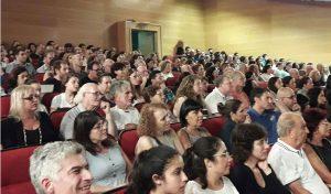 """הקהל באירוע """"ערב מעורר מחשבה"""" (צילום: איתן פרדו-רוקואס)"""