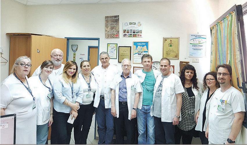 צוות המכון לבריאות העין של שירותי בריאות כללית (צילום: דוברות שירותי בריאות כללית)
