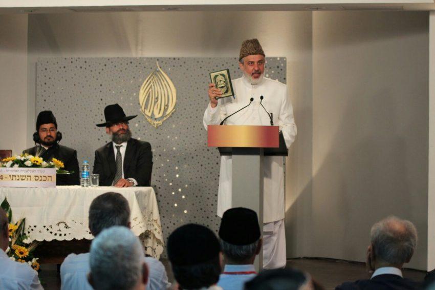 האמיר מוחמד שריף עודה ואנשי דת בכנס בשנה שעברה (צילום: שאדי שלש)