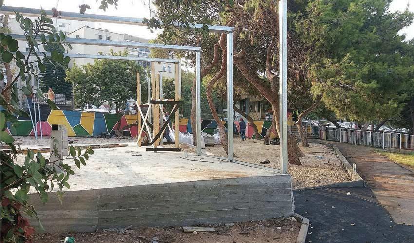 בניית הגן בבית הספר עין הים