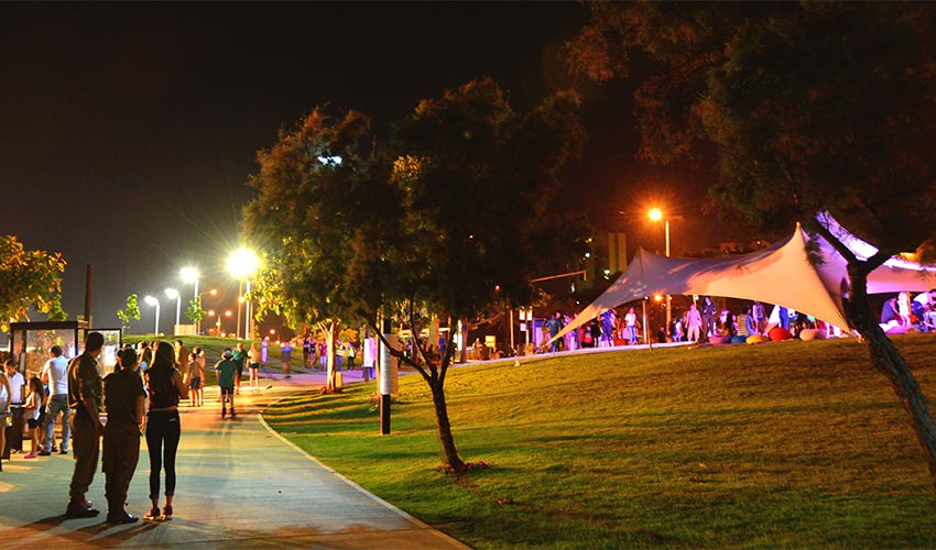 האוהל הנודד (צילום: ניר בלזיצקי, דוברות עיריית חיפה)
