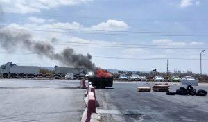 הפגנת העובדים נגד סגירת המפעל (צילום: אלה אהרונוב)