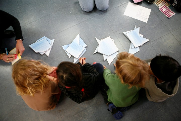 ילדים בהכנה לכיתה א' (צילום: תומר אפלבאום)