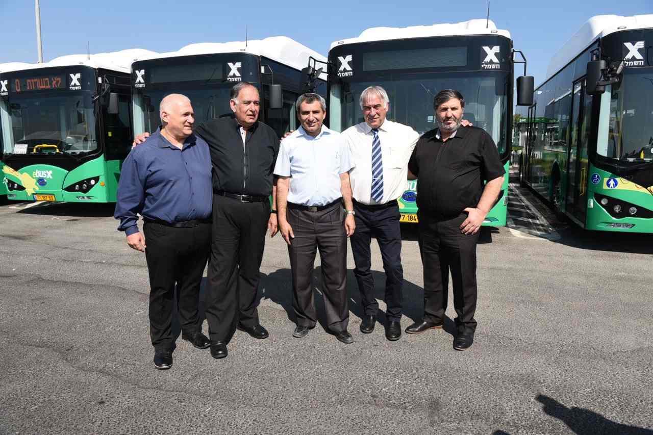 טקס חנוכת האוטובוסים החשמליים החדשים (צילום: הקרן הקיימת לישראל)