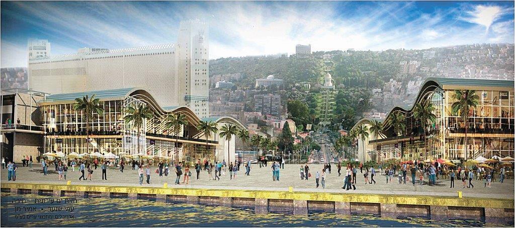 תוכנית חזית הים העירונית במערב הנמל (הדמיה: אמיר מן-עמי שנער אדריכלים)