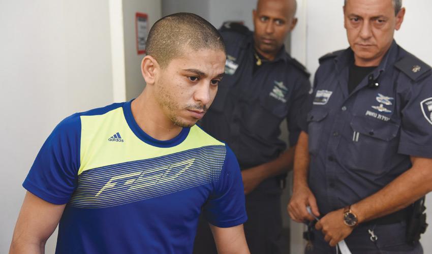 תאמר חוג'יראת, החשוד ברצח, בעת הגשת כתב האישום (צילום: עבדאללה שמא)