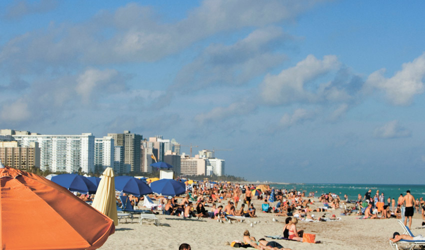 החוף במיאמי (צילום: א.ס.א.פ קריאייטיב INGIMAGE)