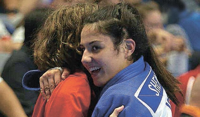 ענבל שמש. עשתה היסטוריה עבור מכבי חיפה (צילום: איגוד הג'ודו האירופי)