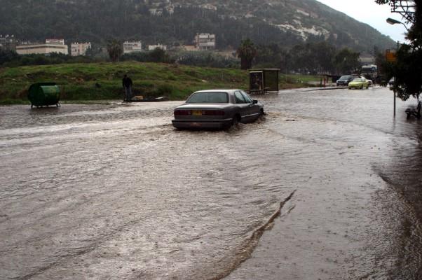 הצפה בכבישי חיפה (צילום ארכיון: גוסטבו הוכמן)