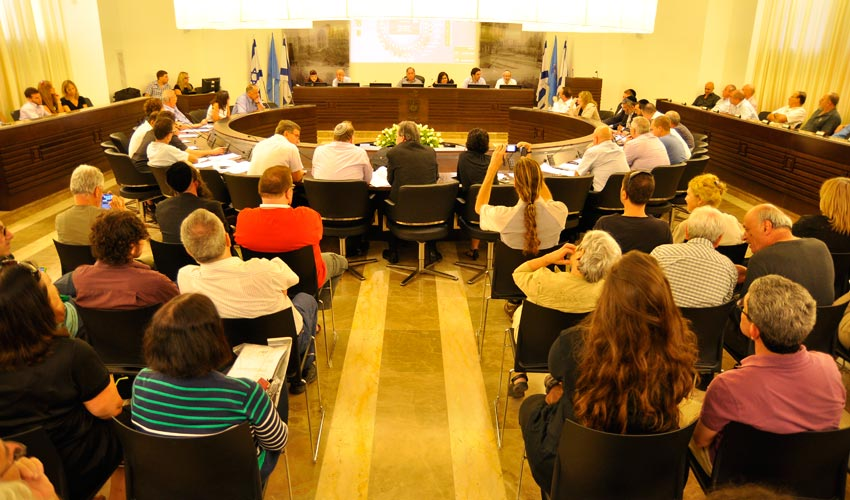מועצת העיר חיפה (צילום: אריאל מזרחי)