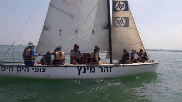 """הסירה ע""""ש זהר מינץ (צילום: צופי ים חיפה)"""