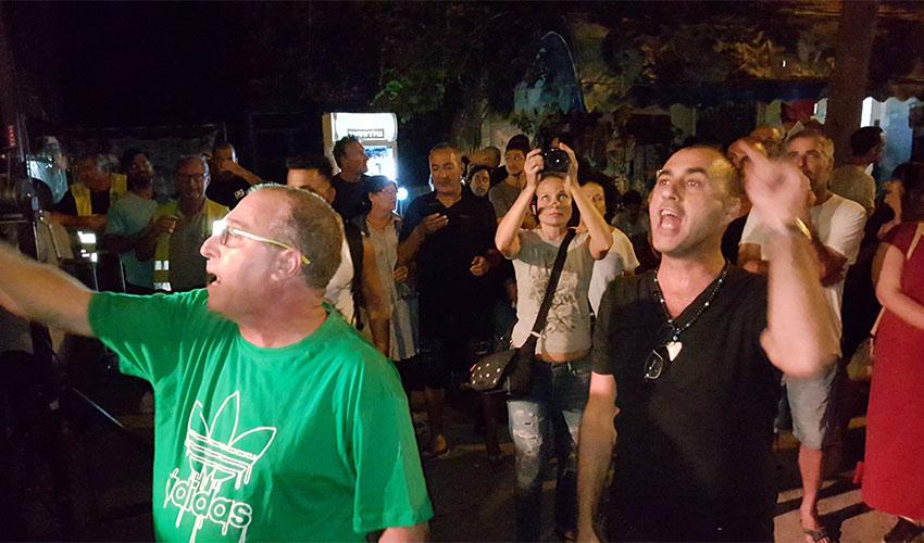 מחאת תושבים בפתיחת פסטיבל בית גלים