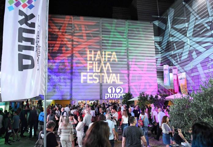 רחבת פסטיבל הסרטים בערב הפתיחה (צילום: ראובן כהן)
