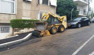 העבודות ברחוב שפרה