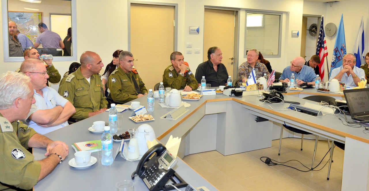 עיריית חיפה בתרגיל חירום (צילום: דוברות עיריית חיפה)