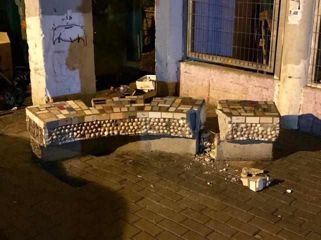 הספסל במסדה (צילום: תדהר טויכר)